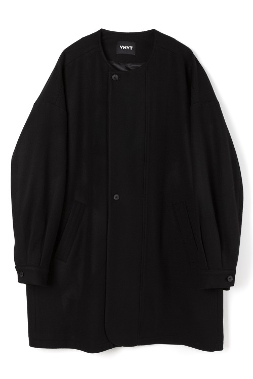 Round-Neck Wool Overcoat